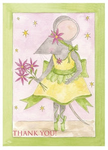 Milly Green Thank you cards x 8 - Just Ballet