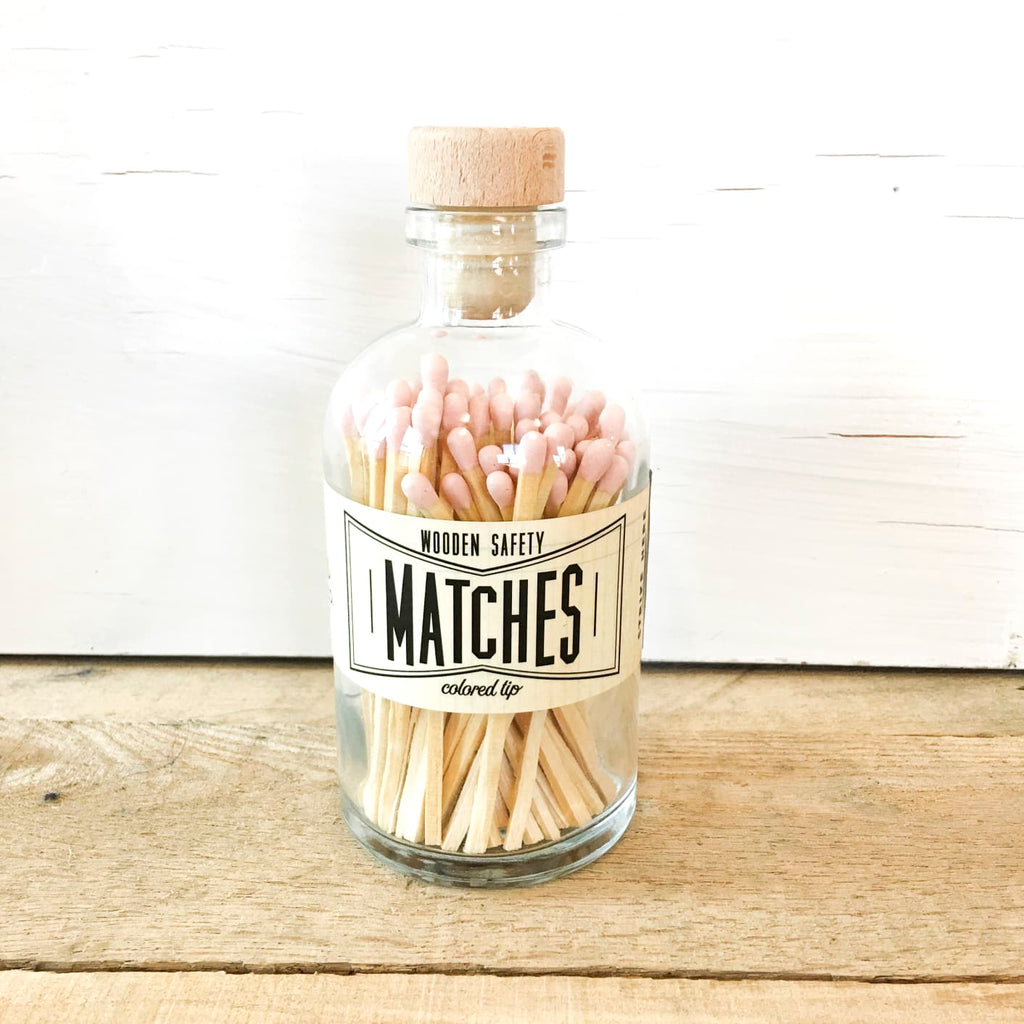 Vintage Apothecary Matches - Light Pink Nude