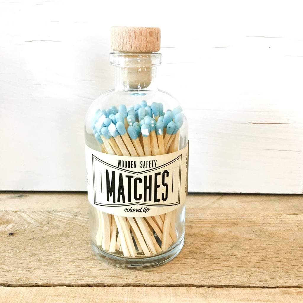 Vintage Apothecary Matches - Powder Blue