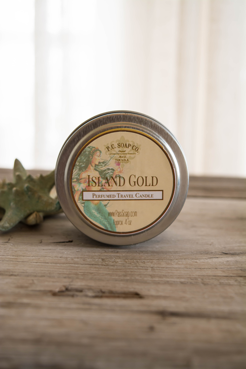 Island Gold Perfumed Travel Candle