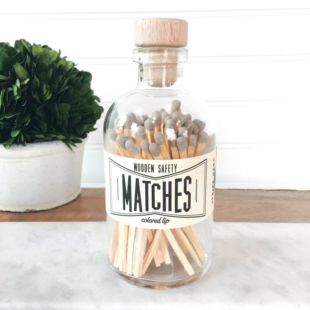 Vintage Apothecary Matches - Gray