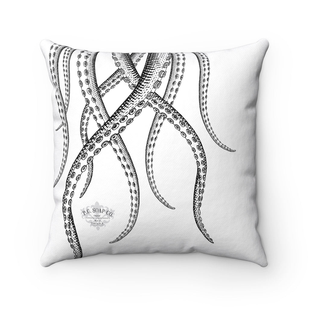 Vintage Octopus Spun Polyester Square Pillow