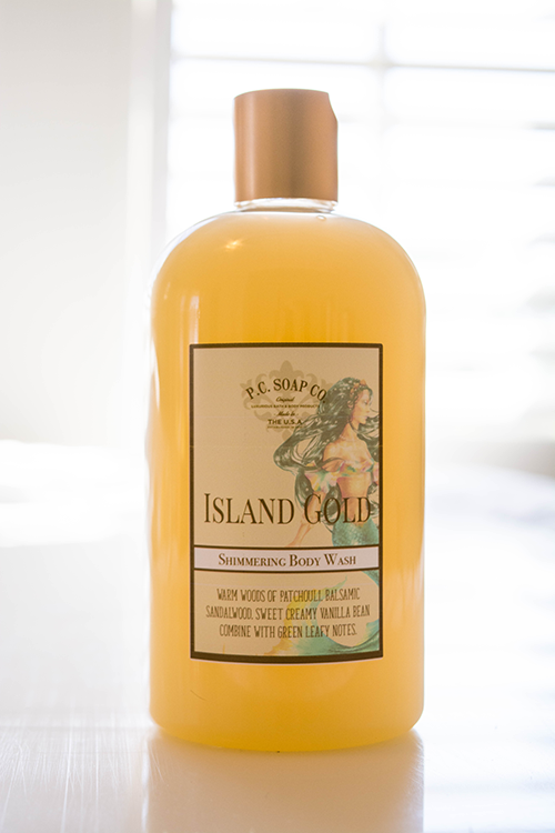 Island Gold Shimmering Body Wash