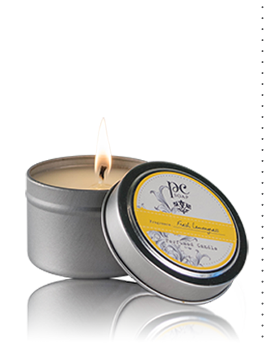 Fresh Lemongrass Perfumed  Travel Candle