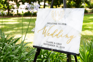 Wedding / Event Welcome Sign - Acrylic