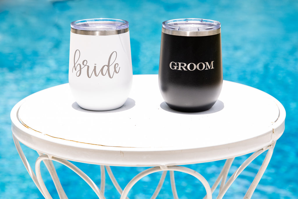 Wedding Party Wine Tumblers