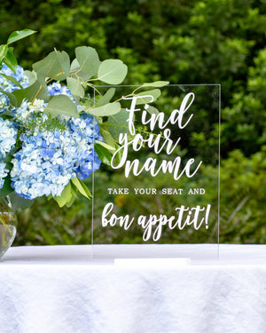 Wedding / Event | Bon Appetit Sign