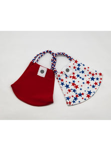 BATHING SUIT MASK | Red, White + Blue