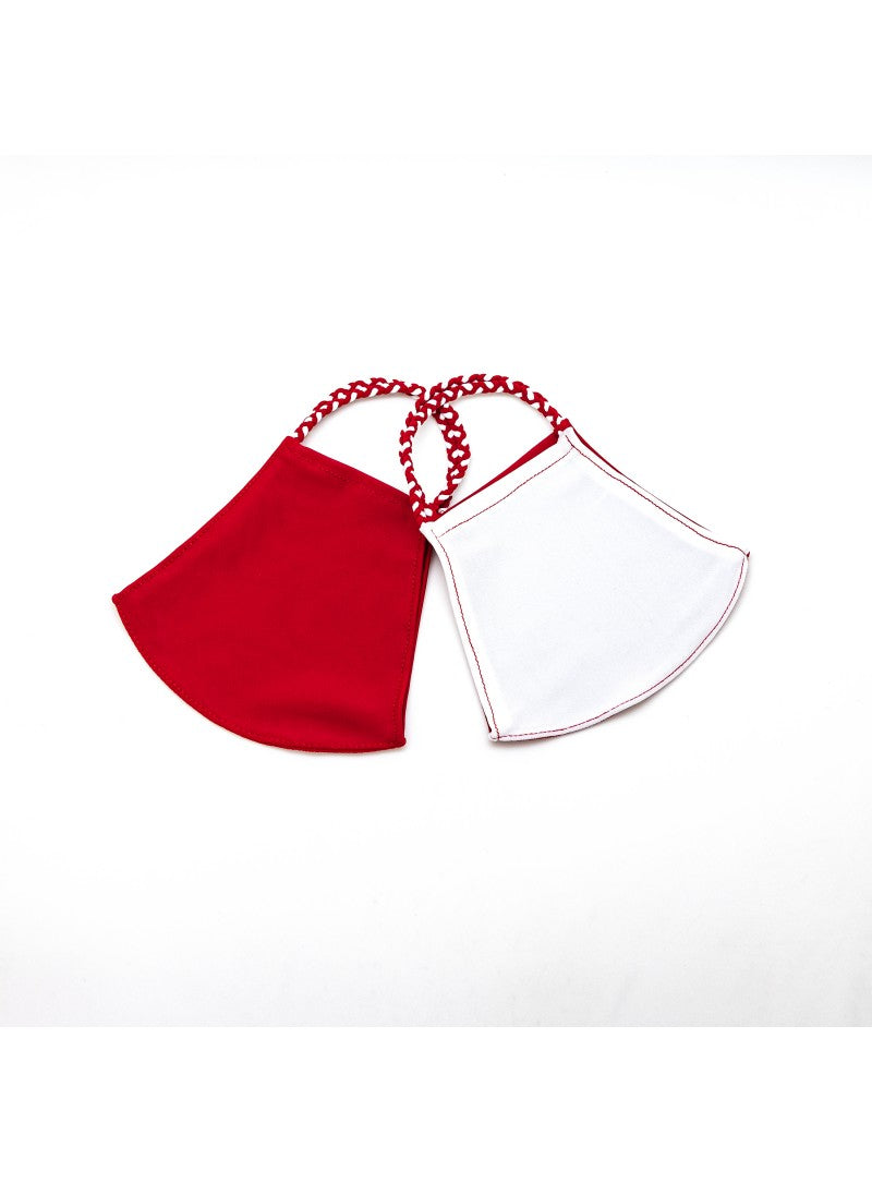 BATHING SUIT MASK | Red + White