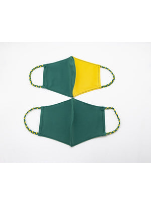 BATHING SUIT MASK | Bottle Green + Yellow