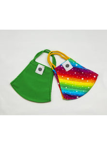 BATHING SUIT MASK | Lime Green + Rainbow