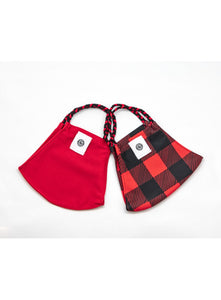 BATHING SUIT MASK | Red + Buffalo Check