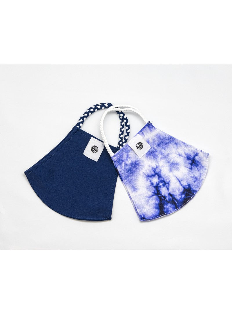 BATHING SUIT MASK | Navy + Indigo Tie Dye