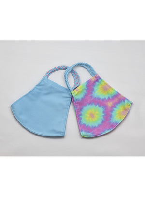 BATHING SUIT MASK | Light Blue + Tie Dye
