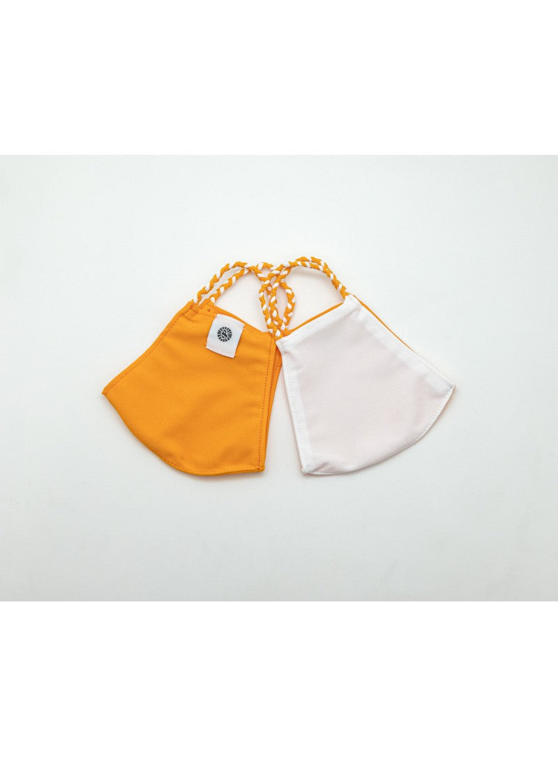 BATHING SUIT MASK | Orange + White