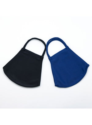 BATHING SUIT MASK | Solid Black + Solid Navy