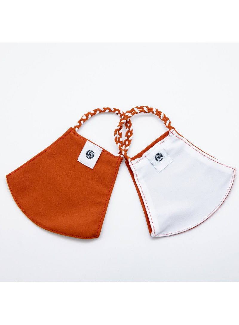 BATHING SUIT MASK | Burnt Orange + White