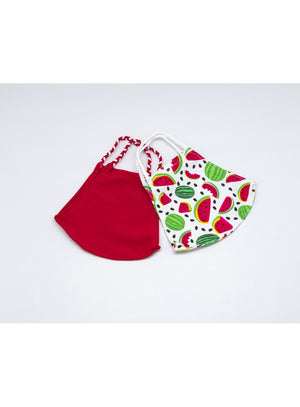 BATHING SUIT MASK | Red + Watermelon