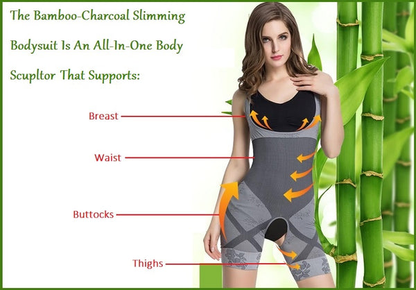 All In One Magic Shaper Bamboo/Charcoal Slimming Bodysuit