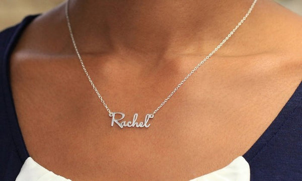 Sterling Silver Name Necklace Name Necklace