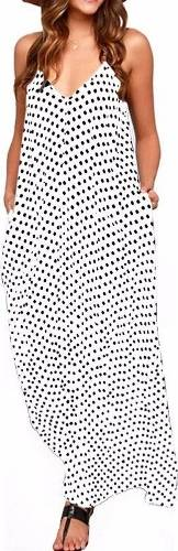 Flattering Polka Dot Sundress