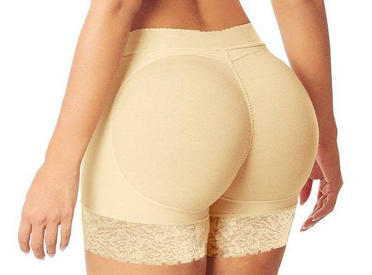 Women Lace Padded Seamless Butt Hip Enhancer Shaper Panties Underwear