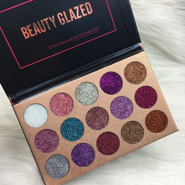 Shimmering Pressed Glitter Eye Shadow Palette