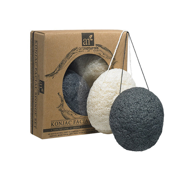 Konjac Sponge Exfoliating Facial Sponges-Natural Cleaning Bamboo