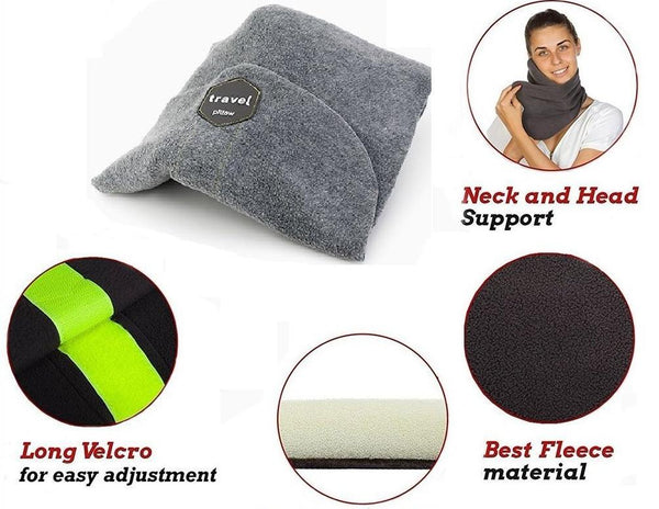 On The Go Neck Support Travel Pillow