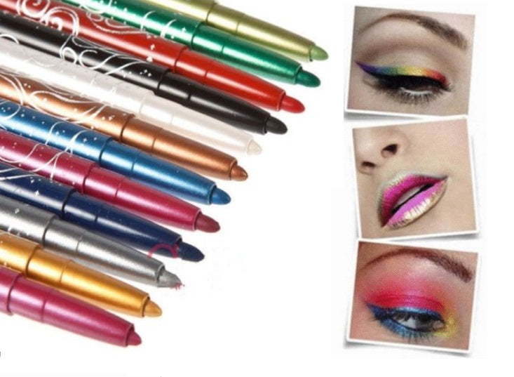 Shimmering Eye & Lip Liner Cosmetic 12 Pc Set