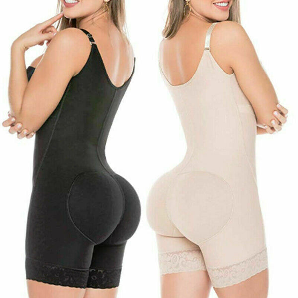 LIPOSUCTION GIRDLE CLIP ZIP AND HOOK VEST BODYSUIT SHAPER
