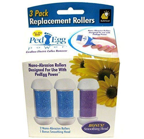 Ped Egg Power Replacement Rollers 3 Pack