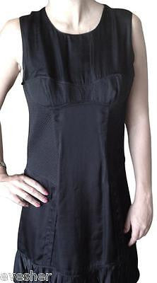 BURBERRY Dress Black DEMI CUP Sleeveless Viscose Sz 42 - Evesherfashion