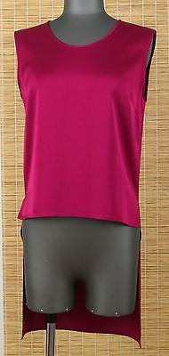 Stella McCartney Blouse Top Red Tunic Shirt Viscose Sz 38 DoPEEK! - Evesherfashion