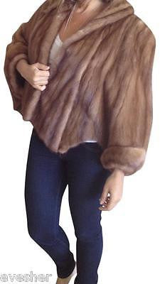 Vintage Brown MINK COLLAR AND SLEEVE CAPELET Fur Wrap Stole, GORGEOUS!!!! - Evesherfashion