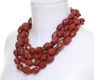 Simon Alcantara 4 Strand Cornelian Necklace Chain String Jewelry Vintage DoPEEK! - Evesherfashion