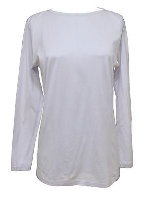 Hermes Vintage Light Grey Long Sleeve Cotton Top Blouse Size M DoPeek MINT! - Evesherfashion
