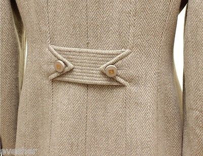 Chanel 96A Jacket Blazer Beige Wool Blend Gold HW Long Sleeve 36 Vintage - Evesherfashion