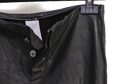 Carpe Diem Black Leather Pants Silver Buttons Vintage Sz 1 MINT DoPEEK! - Evesherfashion