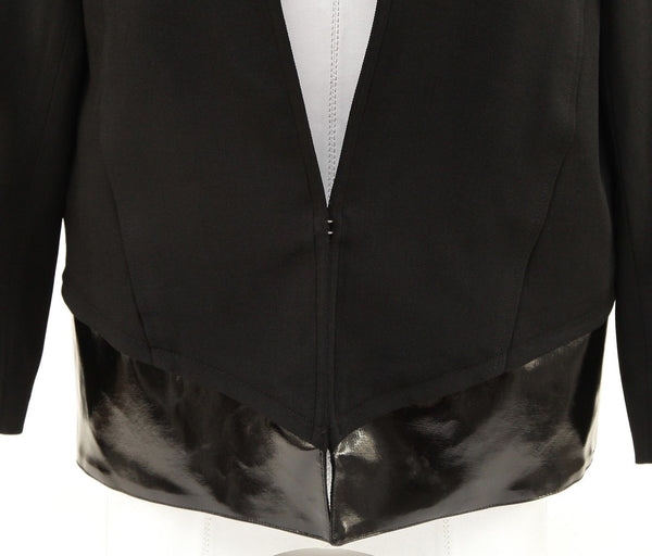 HELMUT LANG Jacket Blazer Coat Black Long Sleeve Hook and Eye Closure Sz 6 - Evesherfashion