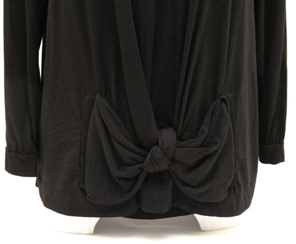 SEE BY CHLOE Sweater Knit Top Black 3/4 Length Sleeve Scoop Neck Sz F 42 US 10 - Evesherfashion