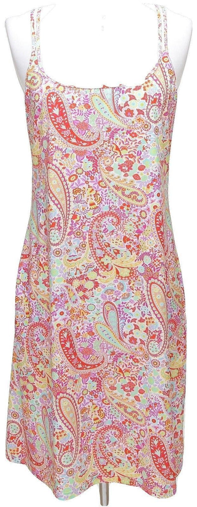 LEGGIADRO Dress Spaghetti Strap Halter WHIMSICAL PAISLEY Floral Jewels M $425 - Evesherfashion