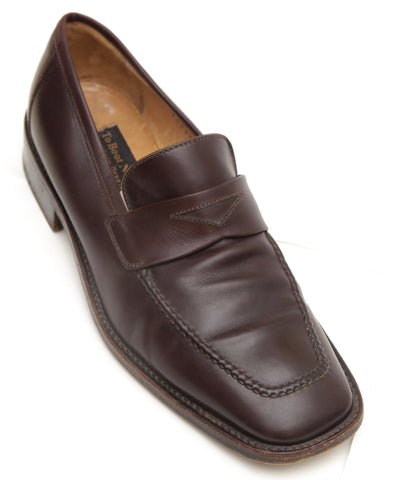 TO BOOT NEW YORK Men's Brown Leather Loafer Moccasin Flats 8 M - Evesherfashion