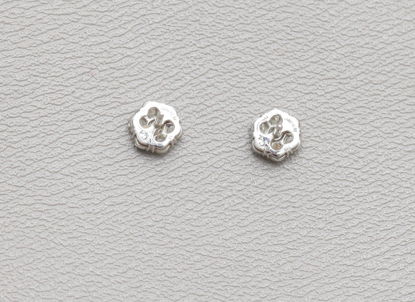 VAN CLEEF & ARPELS Earrings White Gold FLEURETTE Earstuds, small model $15,800 - Evesherfashion