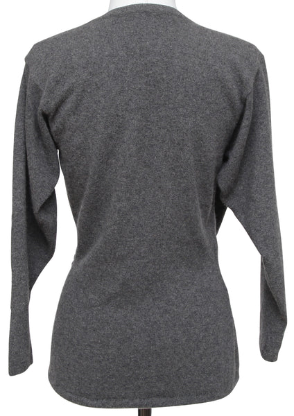 GIVENCHY Sweater Knit Grey Long Sleeve Pullover Sz M VINTAGE - Evesherfashion