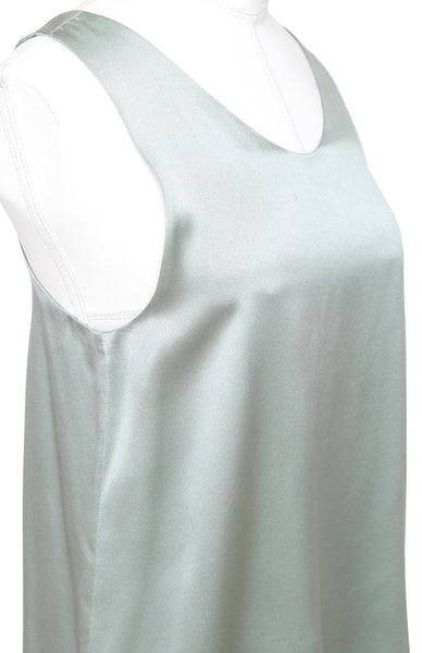 CHLOE Top Blouse Shirt Sleeveless Silk Mint Green Sz 34 - Evesherfashion