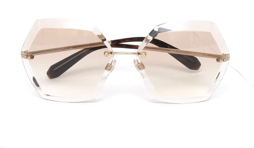 Chanel Sunglasses Rimless Octagon Brown Gradient Lens Gold Frame ...