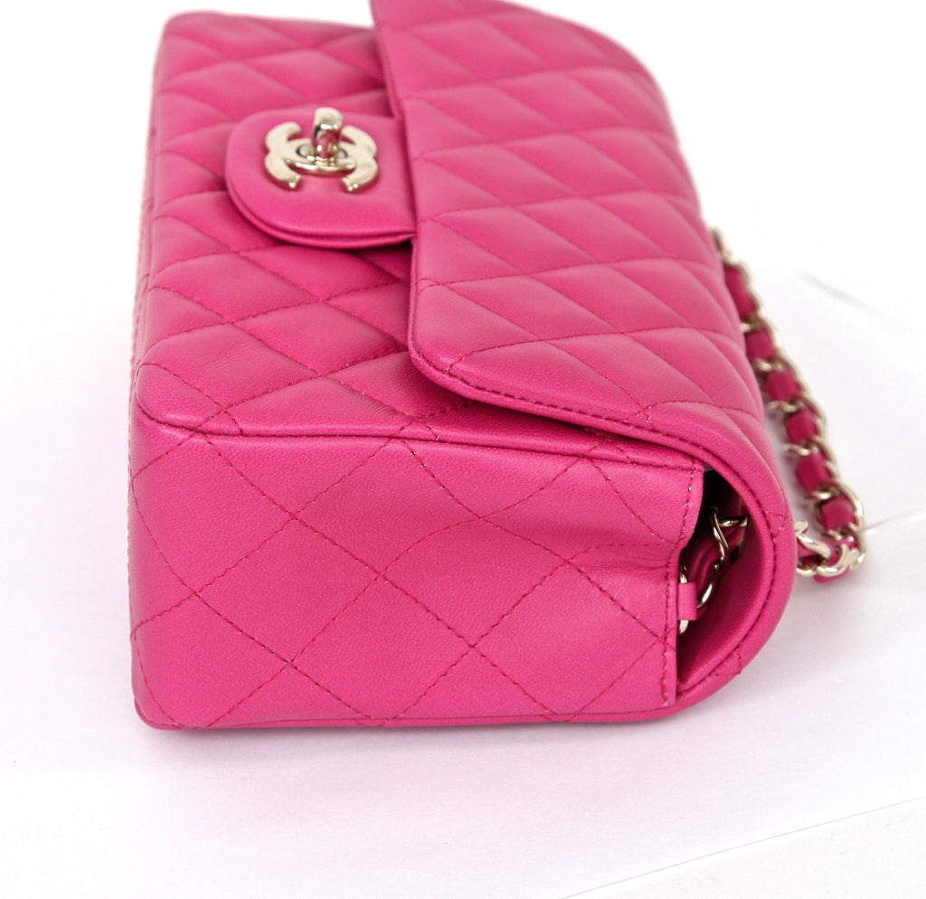 a249c40ba2fe ... CHANEL Fuchsia Lambskin Leather MINI CLASSIC FLAP Shoulder Bag GOLD HW  BNIB 2016 - Evesherfashion ...