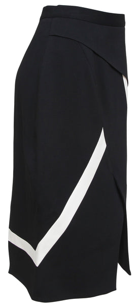 PETER PILOTTO Skirt Pencil Black White Asymmetrical Dress US 6 UK 10 NWT - Evesherfashion