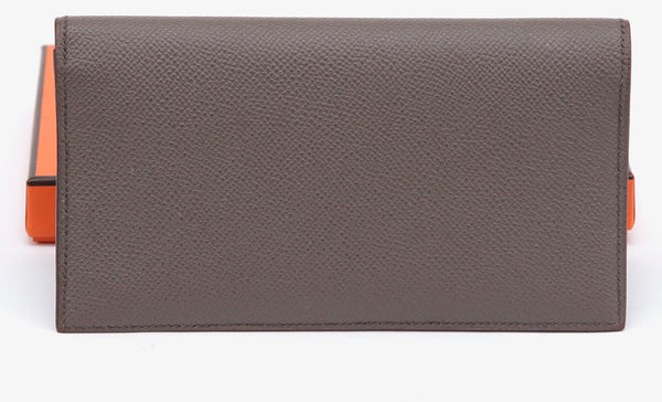 HERMES Wallet Epsom Leather Etain MC2 FLEMING Clutch 2017 Copy of Receipt $1750 - Evesherfashion